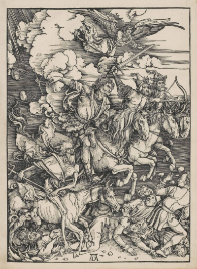 Four Horsemen of the Apocalypse - woodcut by A. Dürer